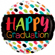 "Happy Graduation Colour Dabs Foil Balloon (18"") 1pc"